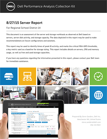 The Individual report will show in-depth characteristics of an individual server.